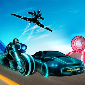 Light Bike Stunt Transform Car Driving Sim 2019 Online PC (Windows / MAC)