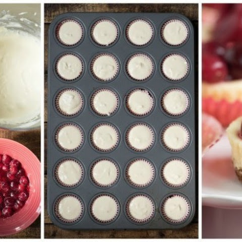 Mini Cranberry Cheesecake Bites