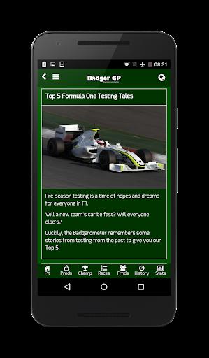 Badger GP - screenshot