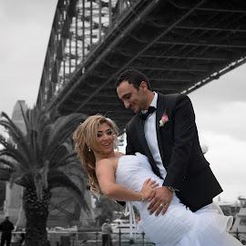 Bride and Groom  by Faisal Enam - Wedding Bride & Groom ( lebanese wedding, harbour bridge, australia, opera house, bride, groom, sydney )