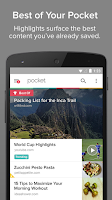 Screenshot of Pocket