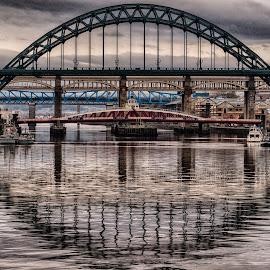5 Bridges by Adam Lang - Buildings & Architecture Bridges & Suspended Structures ( tyneside, high level bridge, gateshead, tyne bridge, newcastle, bridges, swing bridge )