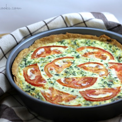 Tomato Bacon & Spinach Quiche