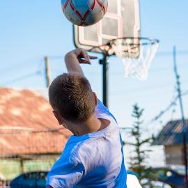 kids sport by Octavian Geala - Babies & Children Hands & Feet ( basketball, ball, basket, sports, kids, sun )