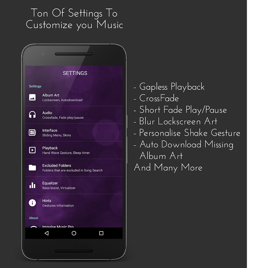 Impulse Music Player Pro Screenshot 2