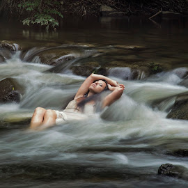 Misty by Tyler Oxley - People Portraits of Women ( water, michigan, dreamy, model, long exposure, river )