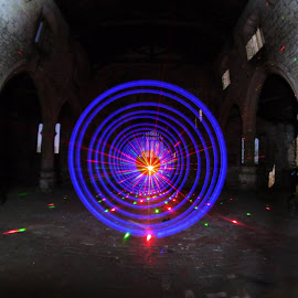Laser Swirl by James Margarson - Abstract Light Painting