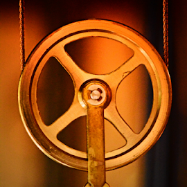 gold by Angeline JoVan - Novices Only Objects & Still Life ( wheel, clock, round, circle, gold )