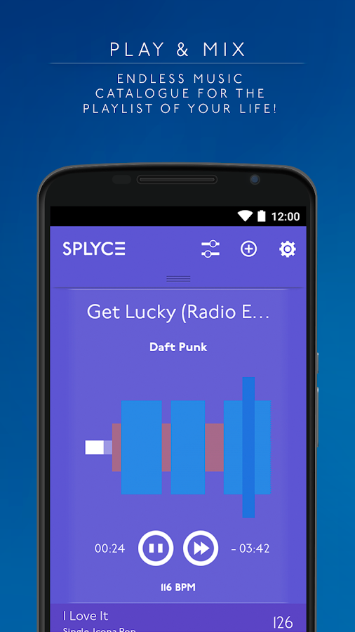 Splyce music player & automix Screenshot 1