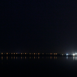 Shoreline of Karachi by Fawad Hashmi - City,  Street & Park  Night
