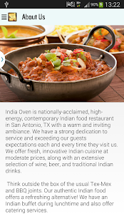 India Oven Restaurant - screenshot