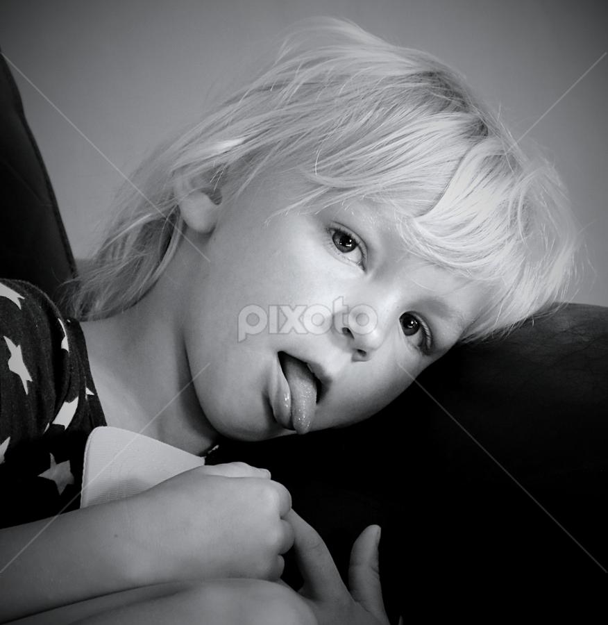 Michelle (5) by Pieter J de Villiers - Black & White Portraits & People