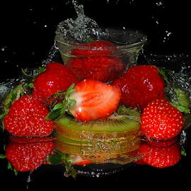 kiwi with strawberry by LADOCKi Elvira - Food & Drink Fruits & Vegetables ( kiwi )