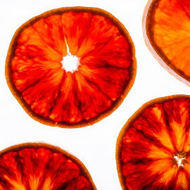 Blood red by Alina Dinu - Food & Drink Fruits & Vegetables ( orange, juicy, fruit, red, citrus, backlight, fresh, texture, food, white, closeup )