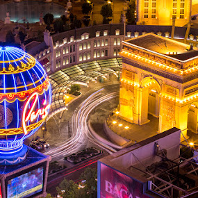 Arc de Triomphe by Rich Voninski - Buildings & Architecture Office Buildings & Hotels ( las vegas, paris, arc de triomphe, neon, night )