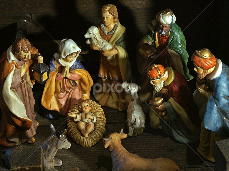 Nativity Scene by Gary Amendola - Public Holidays Christmas