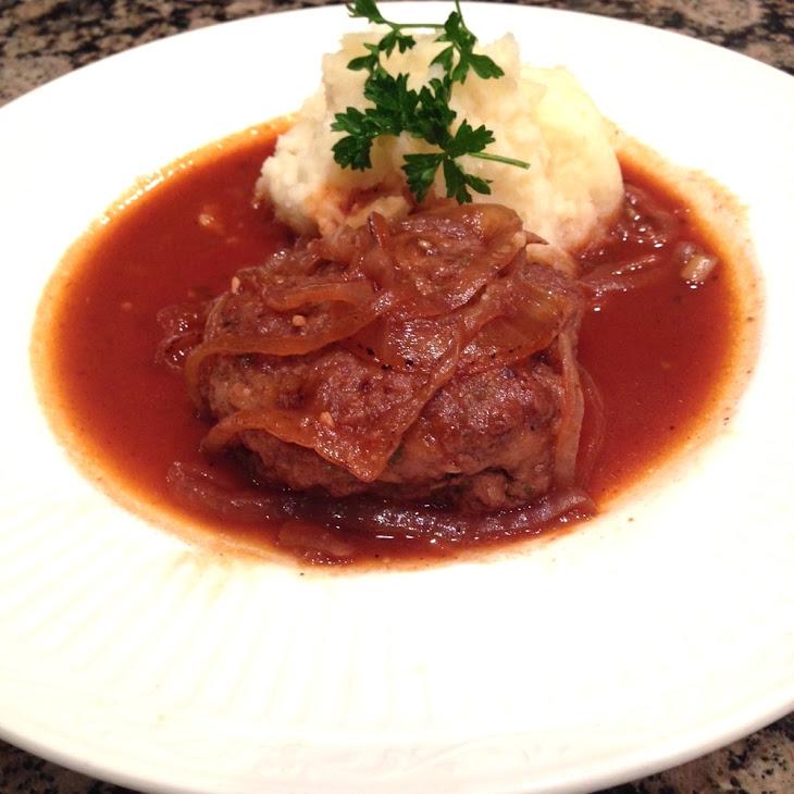 Savory Salisbury Steak with Onion Gravy Recipe | Yummly