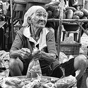 Old Vendor by Kokien Photography - City,  Street & Park  Markets & Shops
