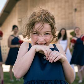 Kids will be kids by Michael Keel - Wedding Other ( little girl, bridesmaids. wedding, redhead, flower girl )