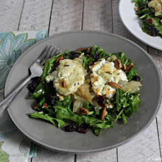 Arugula Salad With Baked Goat Cheese and Rosemary Honey