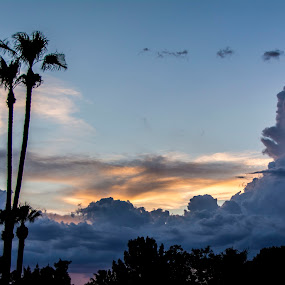AZ Sunset by Steve Keefe - Landscapes Cloud Formations ( clouds, sunset, wigwam )