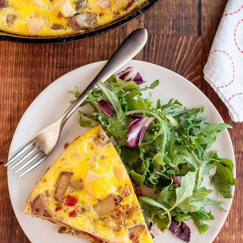 Potato, Red Pepper & Gouda Frittata