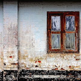 *** Decaying Wall *** by Steven De Siow - Buildings & Architecture Architectural Detail ( wall art, window, architectural detail, architecture, wall )