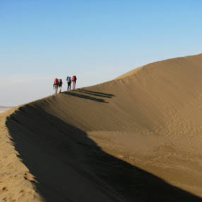 Deseert Hiking by Hamed Ghalandar - Sports & Fitness Other Sports ( iran, desert, maranjab desert, kashan )
