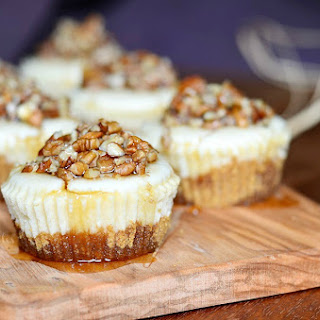 Maple Pecan Mini Cheesecakes