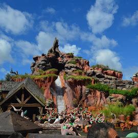 Splash Mountain at the Magic Kingdom, Walt Disney World by Kris Banas - Buildings & Architecture Other Exteriors ( walt disney world, magic kingdom, splash mountain )