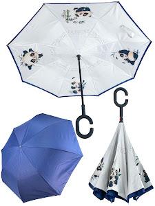 "Зонт ""Животные"" Панда, белый"