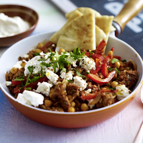 Spicy Beef with Chickpeas and Feta