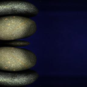 Balance by Dipali S - Nature Up Close Rock & Stone ( balance, relax, blue background, zen, alternative, stones, health, medicine, business, color, colors, landscape, portrait, object, filter forge,  )