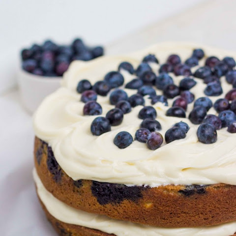 Blueberry Cream Cheese Cake with Brown Butter Cream Cheese Frosting