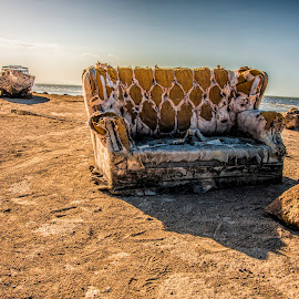 Have a Seat by Kimberly Sheppard - Artistic Objects Furniture ( water, sand, couch, beach, boat )