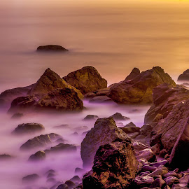 MARSHALL BEACH SAN FRANCISCO by Julio Gonzalez - Landscapes Beaches ( night photo, 5 d mark2, san francisco, marshall beach, rocks )