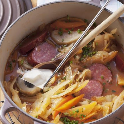 Cabanossi, Cabbage and Swede Stew