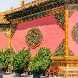 Red Wall by Vibeke Friis - Buildings & Architecture Other Exteriors ( the forbidden city, beijing, wall, china,  )