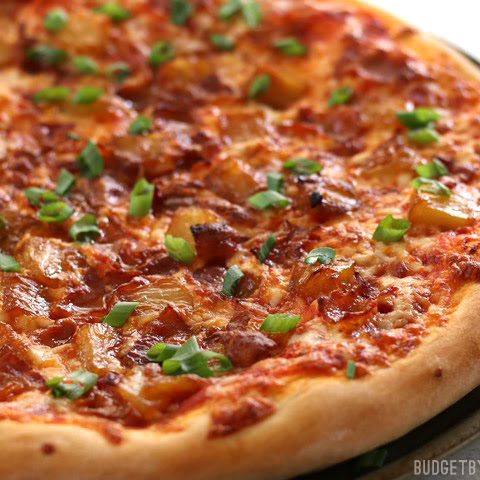Bacon and Caramelized Pineapple Pizza