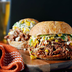 Chorizo-Spiced Pulled Pork With Mexican Street Corn Slaw