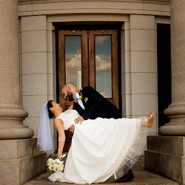 by Emily Schmidt - Wedding Bride & Groom