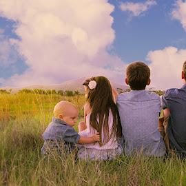 Four lovelies by Shannon Kirk - Babies & Children Child Portraits ( child, children, four, kids, portraits, siblings, rural )