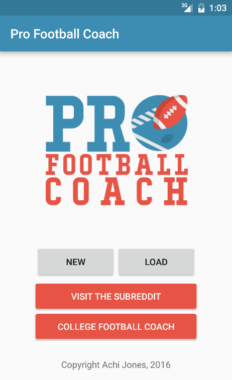 Pro Football Coach Screenshot 0