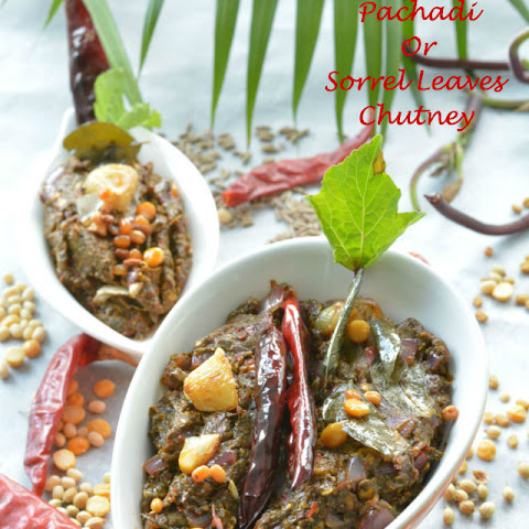Gongura Pachadi or Sorrel Leaves Chutney