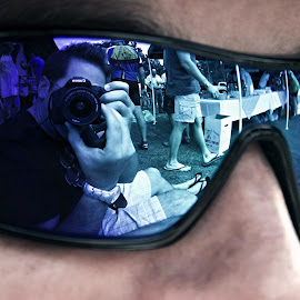 I see you, you se me. by Ryan Patterson - People Family ( reflection, sports, sunglasses )
