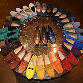 Hm, which one? by Marcel Cintalan - Artistic Objects Other Objects ( shoes, shop, colourful, artistic objects,  )