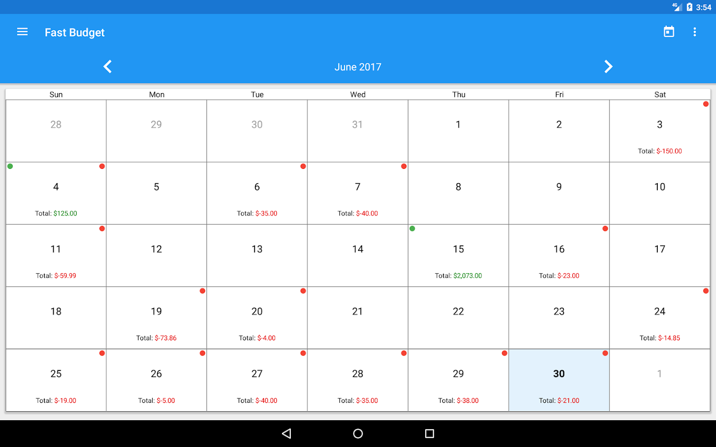 Fast Budget - Expense Manager Screenshot 15