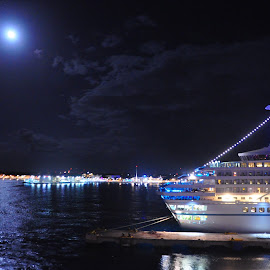 Sea Moon Reflections by Jane Singer - Transportation Boats