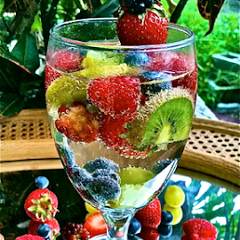 { Fruit Drink And fruits from our gardens ~ 28 July }  by Jeffrey Lee - Artistic Objects Other Objects ( { fruit drink and fruits from our gardens ~ 28 july } )