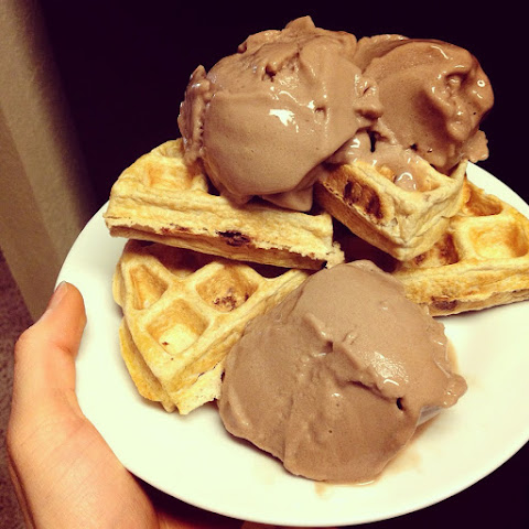 """Chocolate Chip"" Protein Waffle"